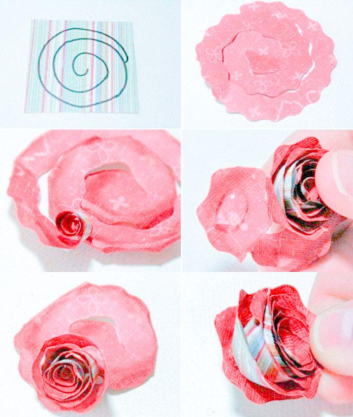 Мастер класс по изготовлению цветка розы из бумаги