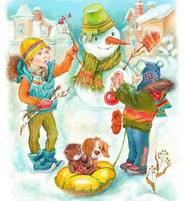 детские загадки про снеговика для школы