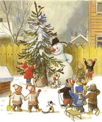 Стихи про снеговика для начальной школы