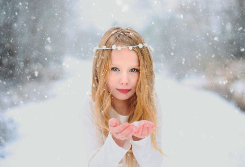 детские стихи про снежинки в сад