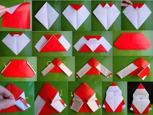 мастер-класс по изготовлению деда мороза из бумаги для детей в саду в школе