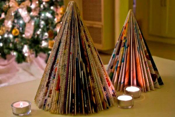 идеи елки из цветной бумаги своими руками