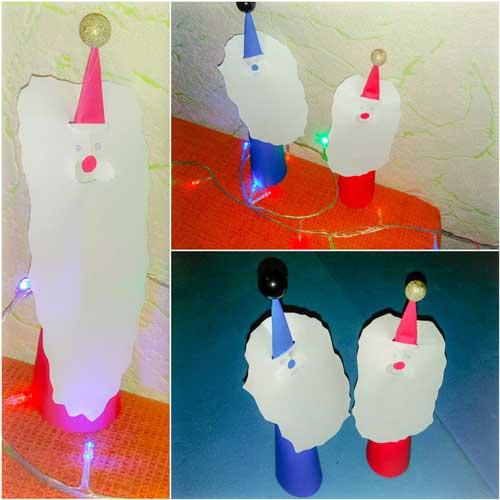 мастер-класс по изготовлению деда мороза из бумаги для детей в саду в старшей группе