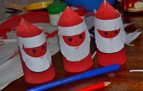 мастер-класс по изготовлению деда мороза из бумаги для детей в 4 лет