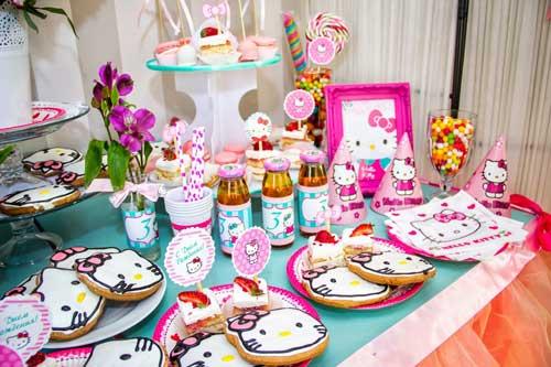 детский день рождения в домашних условиях: красивый стол 6