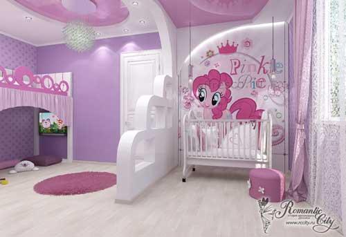 дизайн детской комнаты для малышки