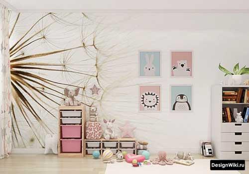 Цвета для детской комнаты для двух маленьких девочек