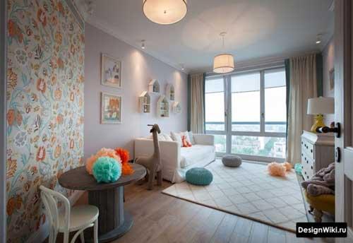 розовые цвета в детской комнате для двух девочек
