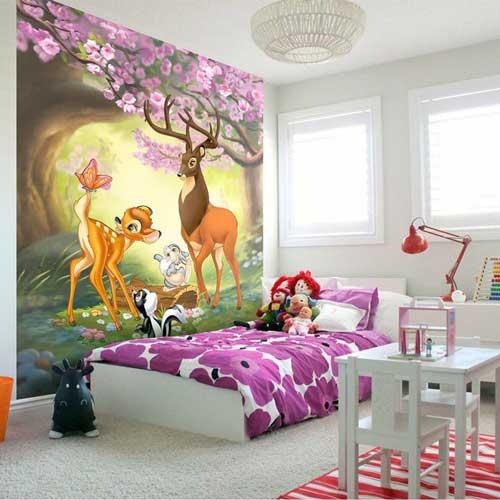 фото обои в детской комнате для девочки