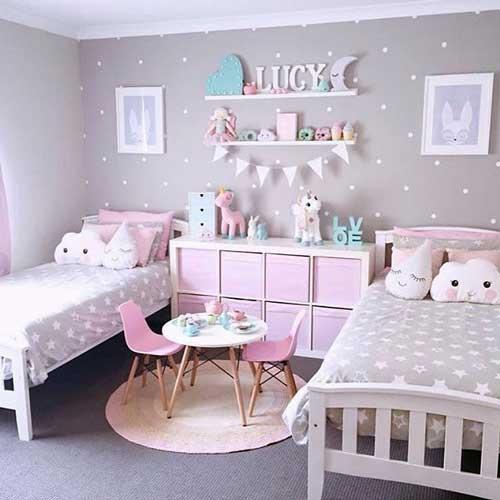 Цвета для детской комнаты для двух девочек