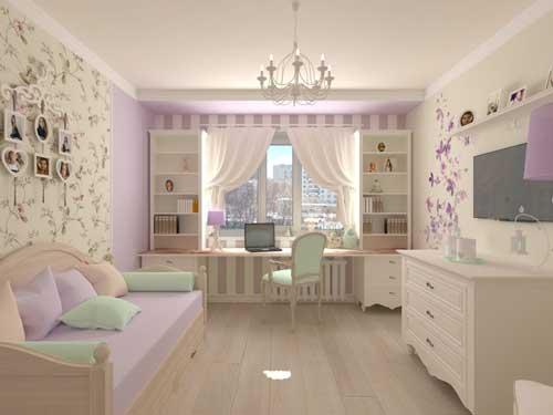 цвета в детской комнате для девочки 8 лет