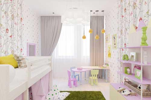 цвета в детской комнате для девочки 7 лет