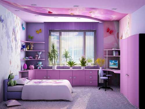 насыщенные цвета в детской комнате для девочки фото