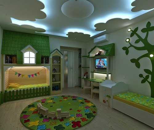 домик в детской для двоих детей 10