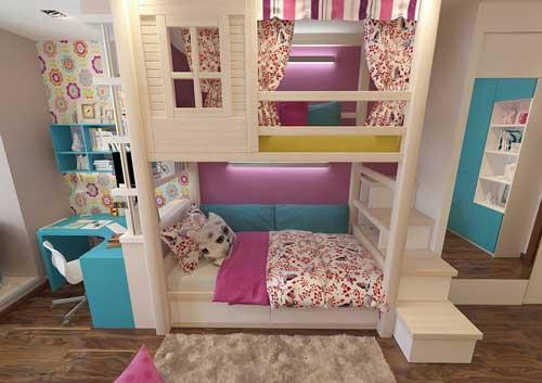 домик в детской для двоих детей 8