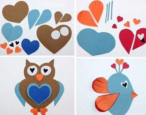 валентинки из бумаги для детей 3-4 лет