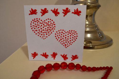 открытка с сердечками 2
