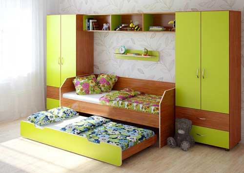 планирование расстановки мебели в детской для двух ребят 3