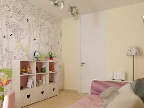 пастельные тона в детской комнате для девочек