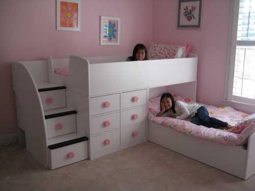 расположение кроватей в детской комнате для двоих детей 2