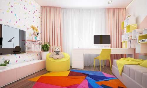 цвета в детской комнате для девочки 9 лет