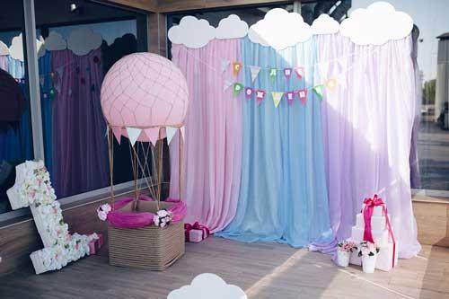 детский день рождения в домашних условиях: фотозона 6
