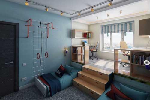 Планировка детской комнаты для двоих детей: лучшие идеи 10