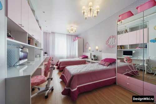 фиолетовый цвет в комнате девочки 4