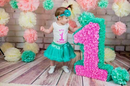 детский день рождения в домашних условиях: на 1 годик для девочки 3