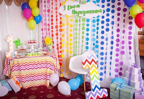 детский день рождения в домашних условиях: фотозона 3