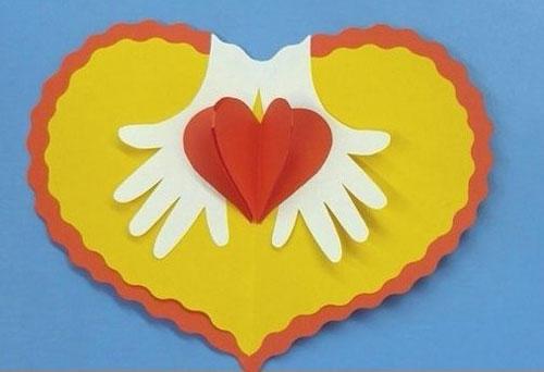 валентинки из бумаги для детей в школу