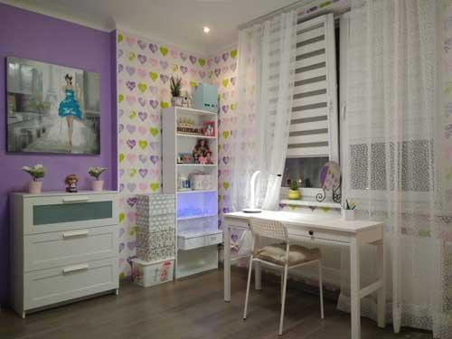 синий цвет в комнате для девочки подростка 2