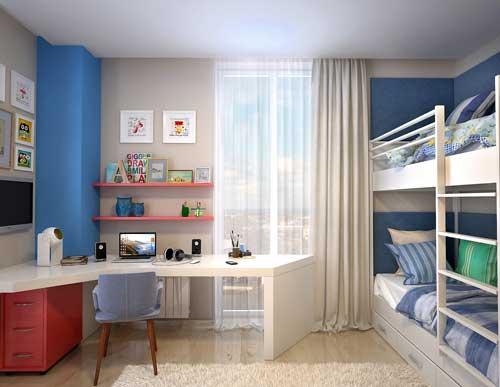 Планировка детской комнаты для двоих детей: лучшие идеи 9