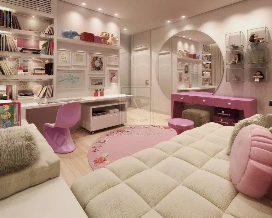 розовая комната для школьницы
