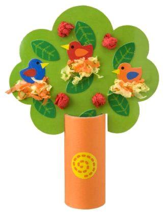 поделка дерево из цветной бумаги для детей 8