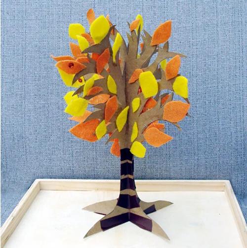 поделка дерево из цветной бумаги для детей 6