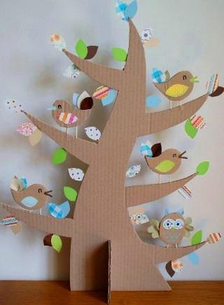 поделка дерево из цветной бумаги для детей 5