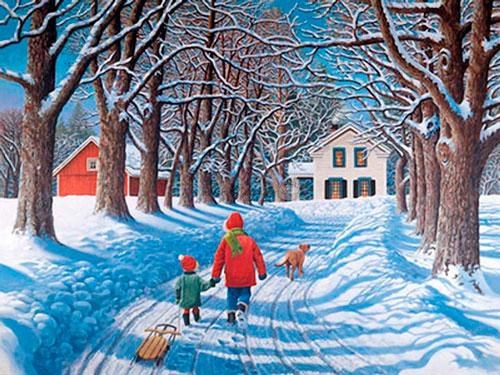 стихи Пушкина про зиму для детей