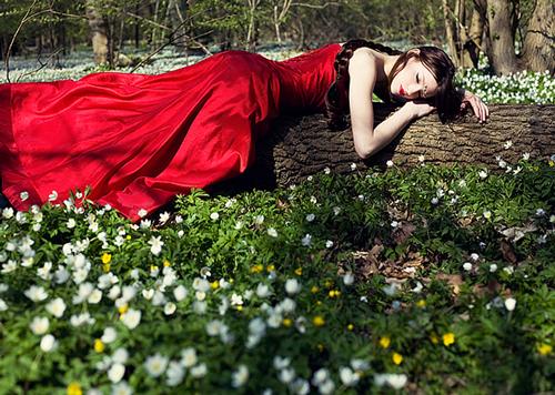 идеи весенних фото в лесу среди цветов