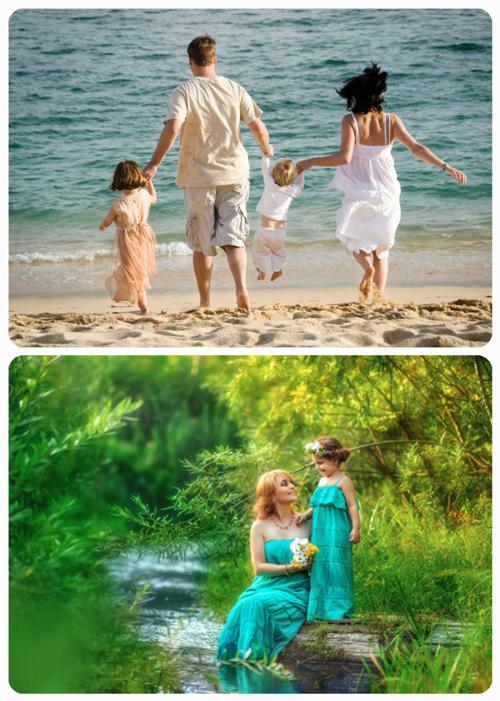 идеи для семейной фотосессии с детьми у воды