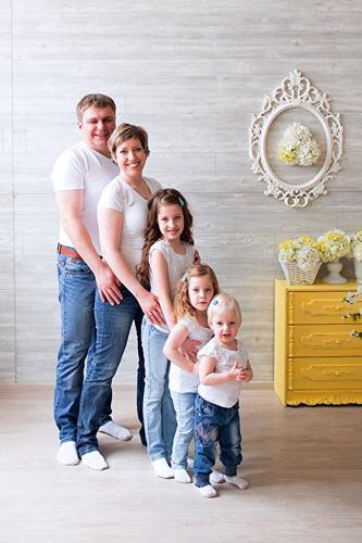 Идеи для фотосессии весной: Family Look 5