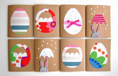 красивые открытки-яички на Пасху из бумаги для детей и взрослых