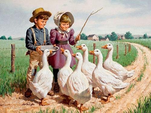 Стихи про гуся для детей 3-5 лет