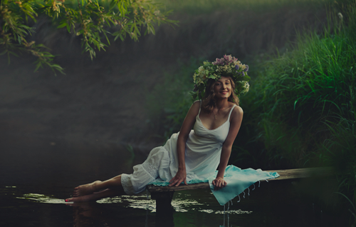 девушка-весна на фото