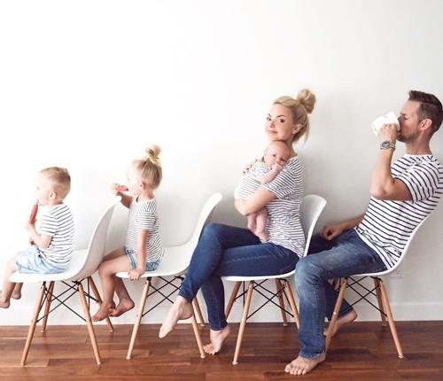 Идеи для фотосессии весной: Family Look 3