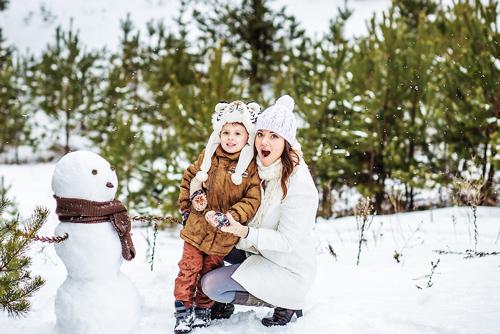 идеи для фотосессии всей семьей зимой