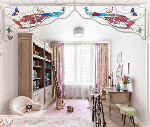свет в классической детской комнате