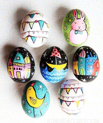 Красим яйца на Пасху: оригинальные идеи для детей