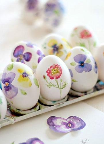 оригинальные идеи покраски яиц на Пасху