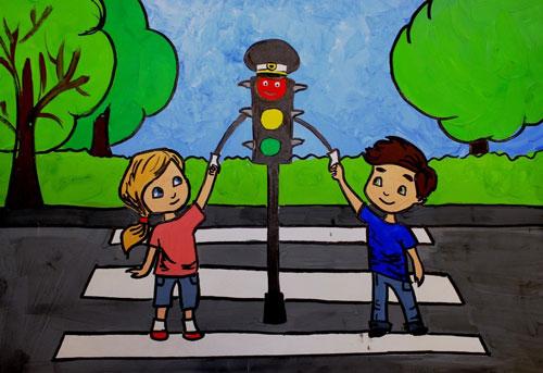 Загадки про цвета светофора для детей